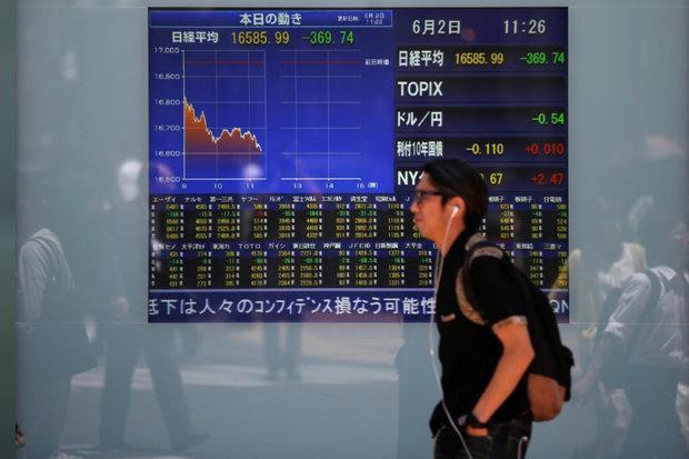 سهام آسیایی افت کردند، تجربه کمترین ارزش سهم در 14 ماه اخیر