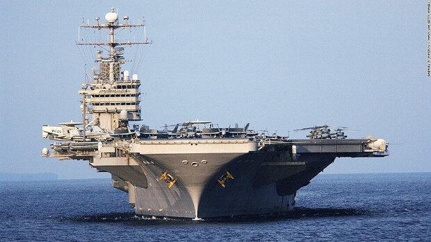 ملوان ناو هواپیمابر آمریکا در خلیج فارس ناپدید شد
