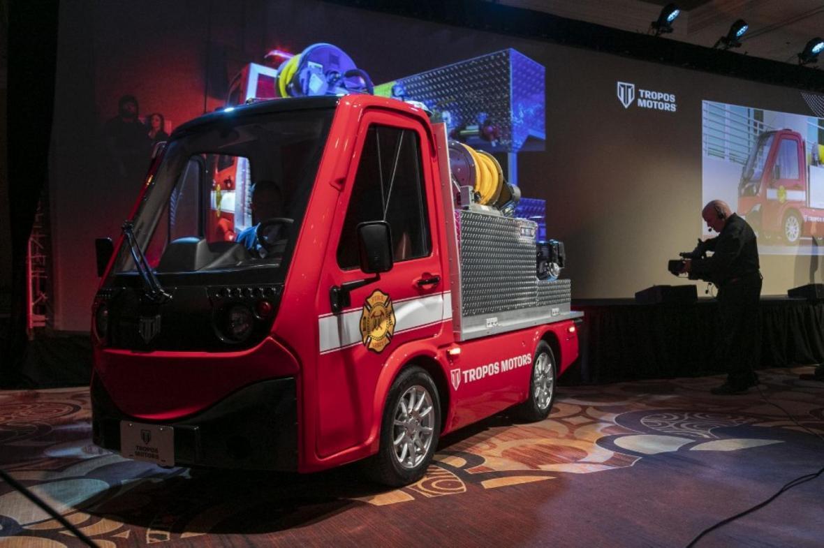ماشین آتش نشانی الکتریکی کوچک پاناسونیک
