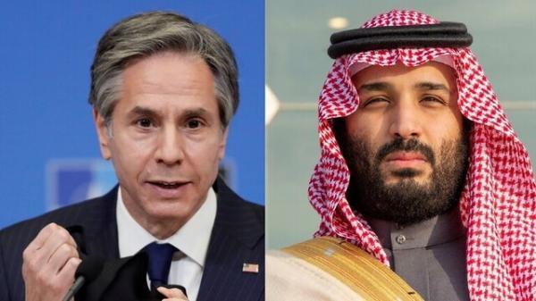 بلینکن: به همکاری با بن سلمان و عربستان ادامه می دهیم
